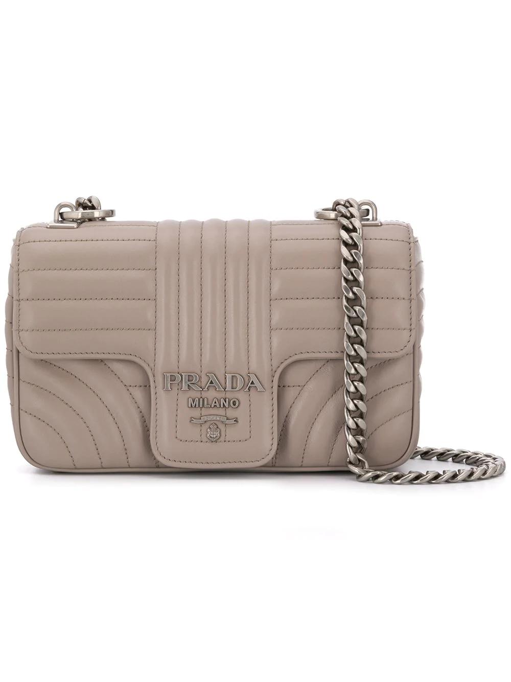 68e0b75ffc1c PRADA. Prada Prada Diagramme Leather Shoulder Bag - Pink