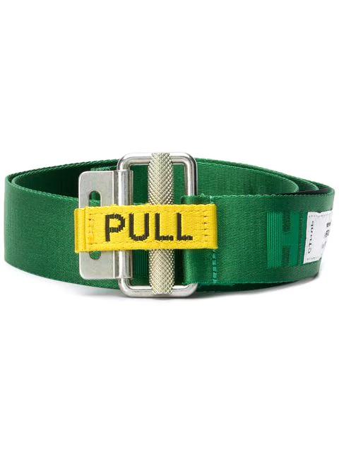 Heron Preston Jacquard Tape Belt In 4040 Green