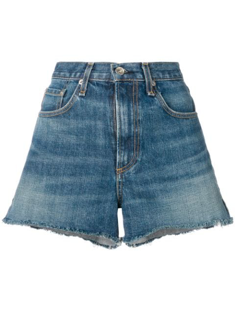 Rag & Bone Justine Shorts In Blue