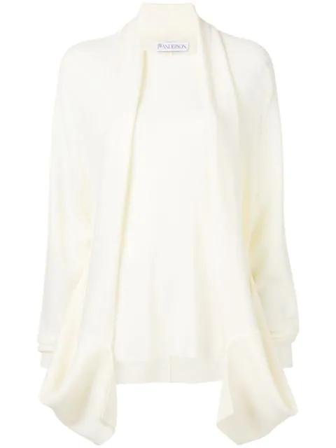 Jw Anderson Oversized Cardigan - White