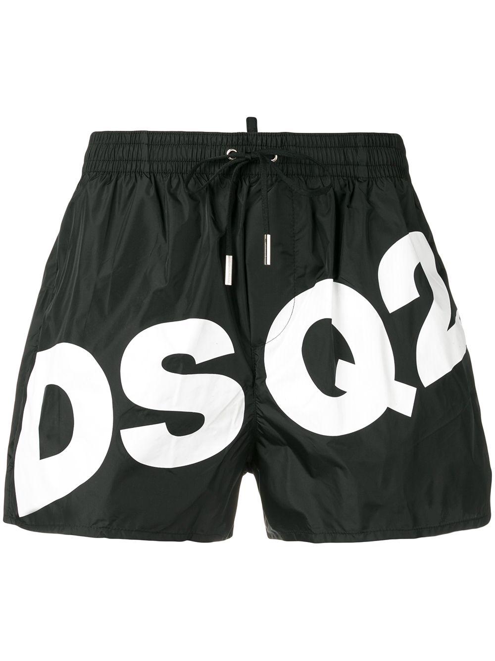 dca97a35a8 Dsquared2 Big Logo Swim Shorts - Black | ModeSens