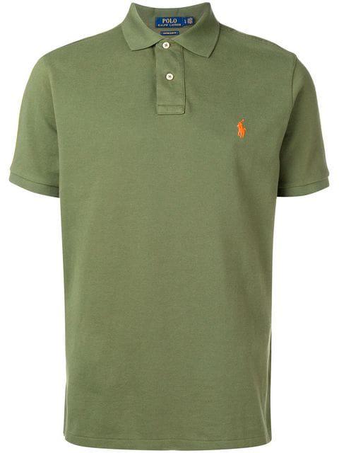 Polo Ralph Lauren Mens Green Embroidered Logo Polo Shirt