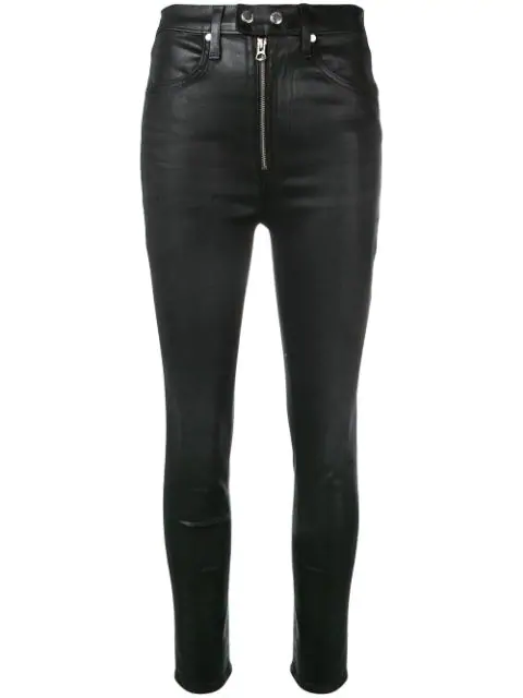 Rag & Bone Baxter Skinny Trousers In Black