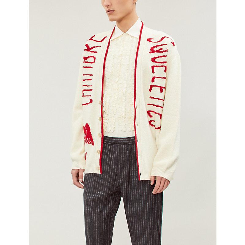 Gucci Ruffled Slim-Fit Cotton Shirt In Cream