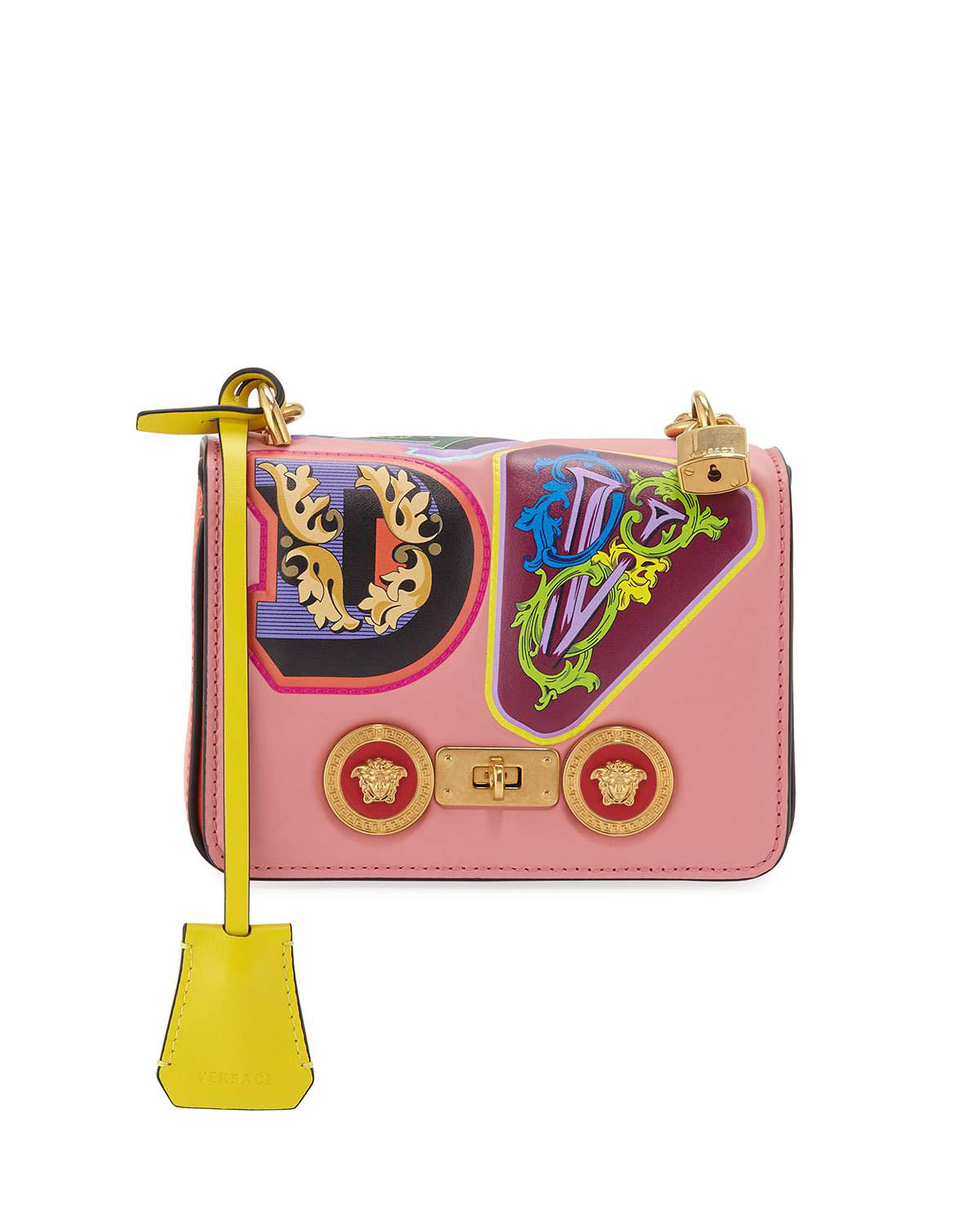 7c793c8d02 Versace Icon Small Crossbody Bag In Pink Pattern | ModeSens