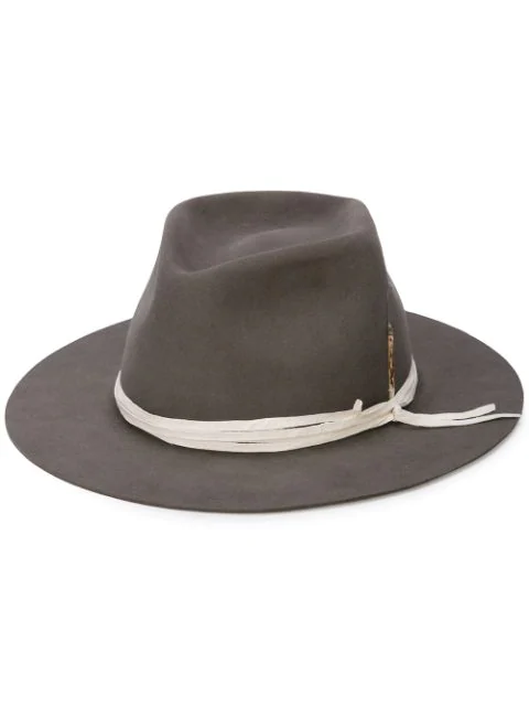 Nick Fouquet Fedora Hat In Grey