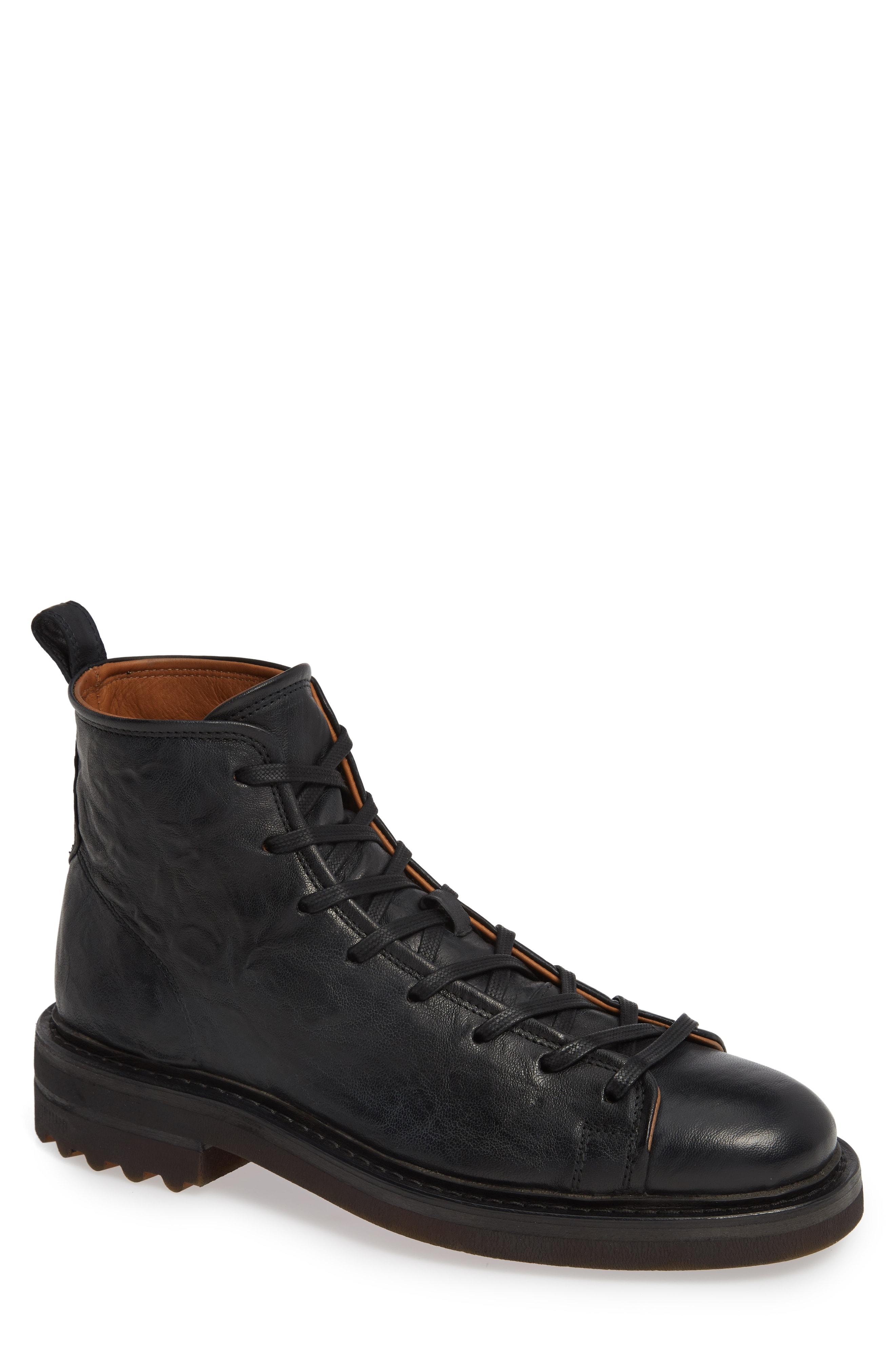 3ac2ebd3cf26 John Varvatos Essex Plain Toe Boot In Black