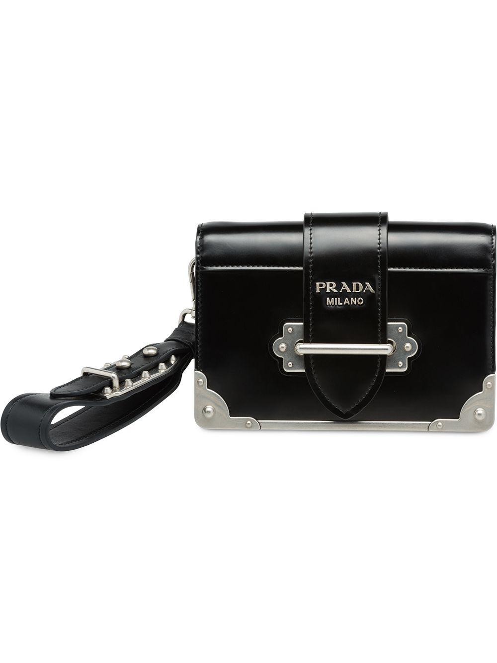 fe261eca0b9b Prada Cahier Clutch Bag - Black | ModeSens