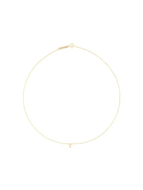 ZoË Chicco 14Kt Yellow Gold T Initial Necklace