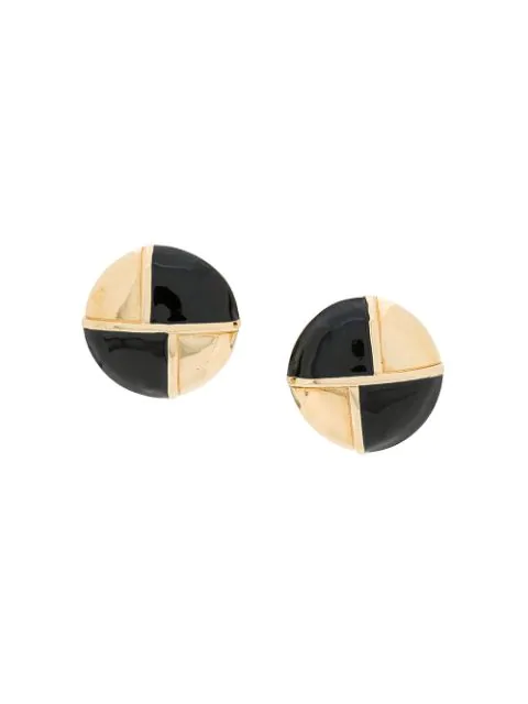 Givenchy 1980s Statement Clip-on Earrings In Gold
