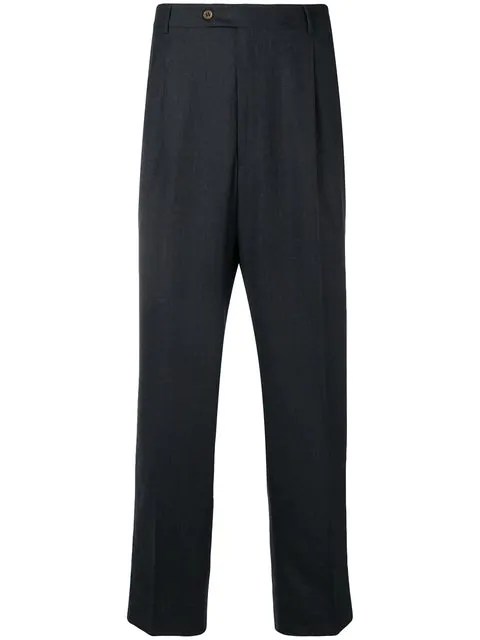 Burberry 2000 Straight-leg Trousers In Grey