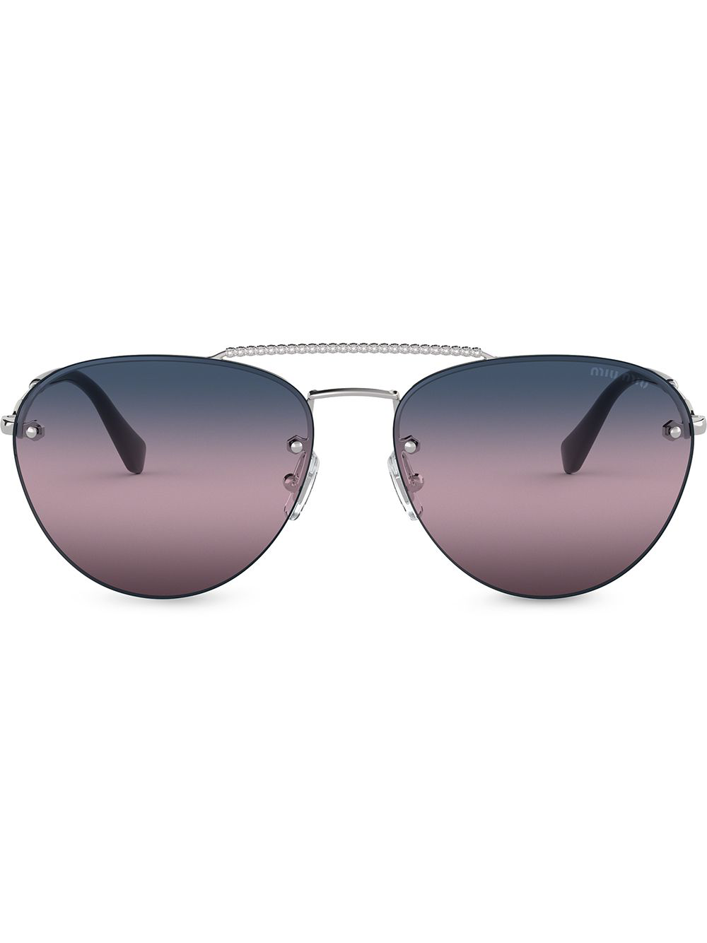 1d0c97328a7 Miu Miu Eyewear Klassische Pilotenbrille - Schwarz In Black