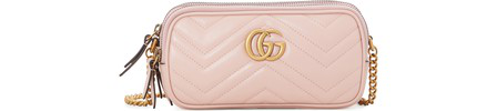 Gucci Gg Marmont Mini Crossbody Bag In Pink