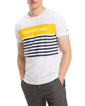 19aff4f7a Tommy Hilfiger Stripe Logo Graphic Tee In Bright White. Bloomingdale's