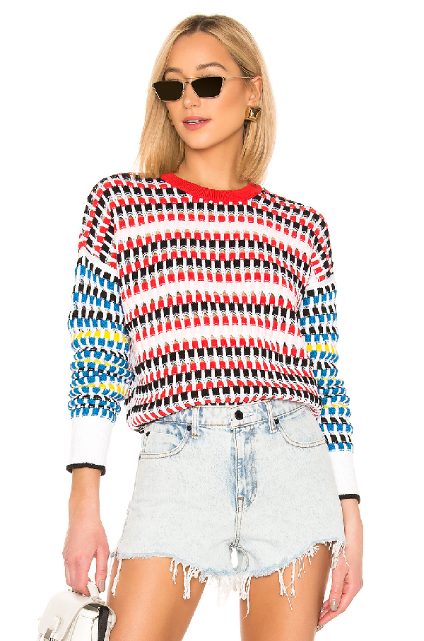 d2c85ed38 Kenzo Contrast Sleeve Open Knit Sweater In Multi Color | ModeSens