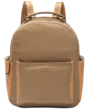 Calvin Klein Abby Backpack In Beige