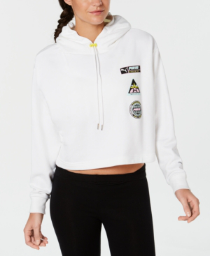 29758d9a CROPPED LOGO HOODIE