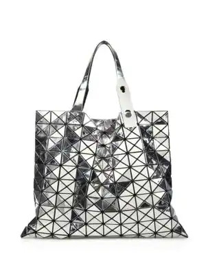 b12fe42d921d Bao Bao Issey Miyake Platinum Metallic Faux Leather Tote In Silver ...