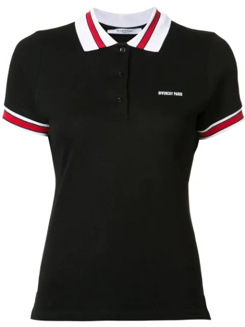 Givenchy Trimmed Polo Top - Black