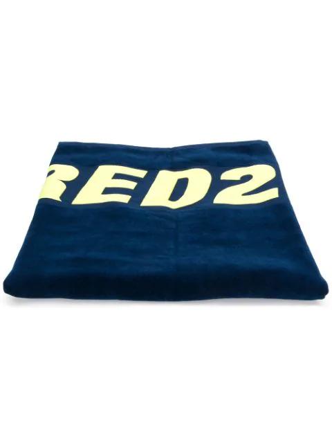 Dsquared2 Logo Beach Towel In Blue