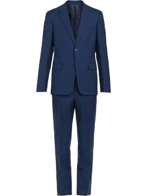 Prada Wool And Mohair Single-Breasted Suit In Blue