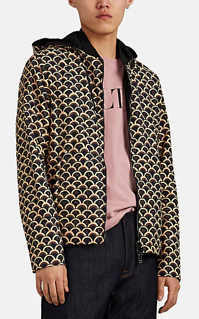 Valentino Scale-Print Reversible Jacket In Brown