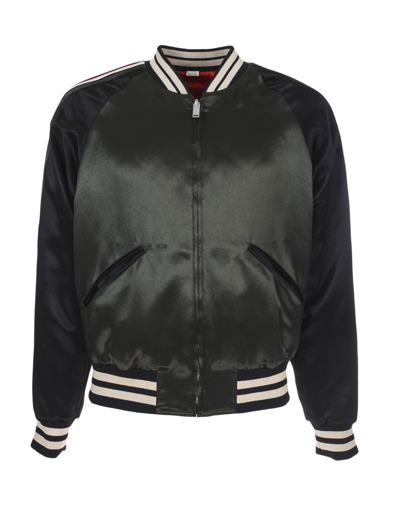 92b46ca25f9a2 Gucci Classic Bomber Jacket In Verde