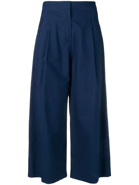 Etro Cropped Palazzo Pants In 200 Blue