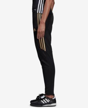 Adidas Climacool Metallic Tiro Soccer Pants In Black/metallic Gold