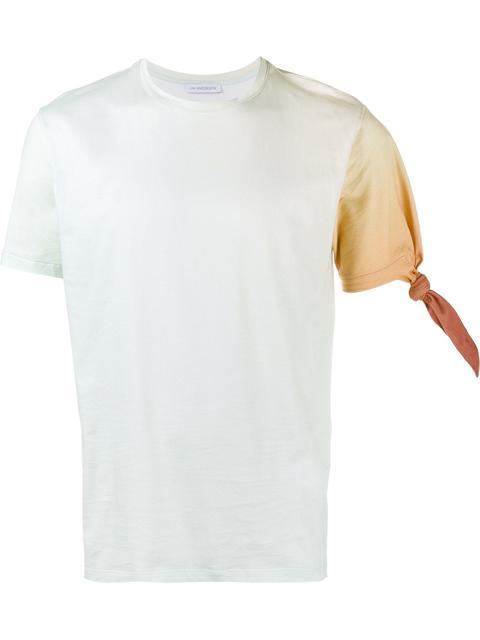 Jw Anderson Single Knot Gradient Cotton T-shirt, Parma