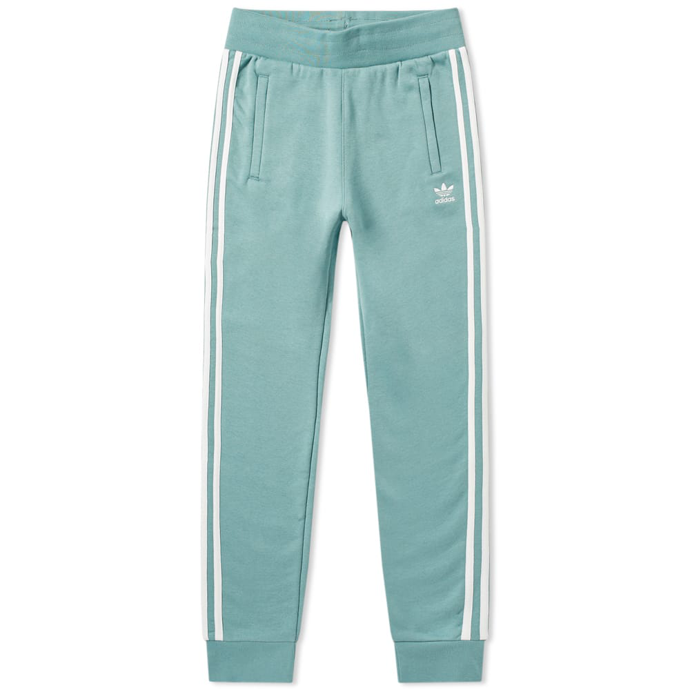 Adidas Originals Adidas 3 Stripe Track Pant In Green