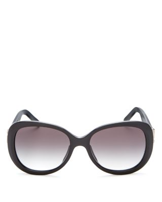 Marc Jacobs Women's Square Sunglasses, 56mm In Havana/brown Gradient