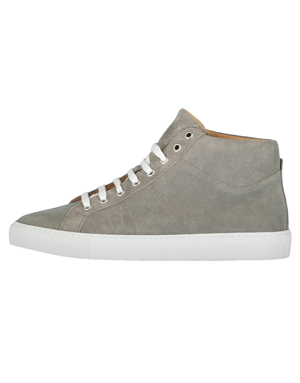Eleventy Suede Hightop Sneaker In Grey