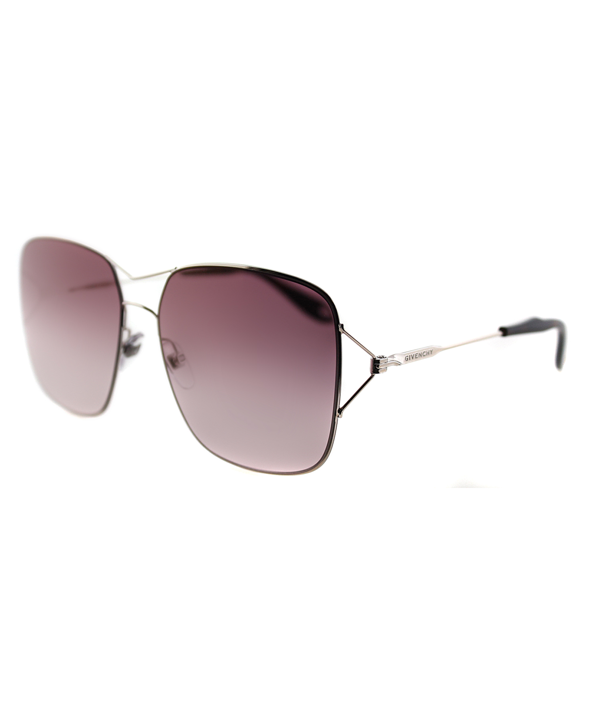 Givenchy Square Metal Sunglasses In Gold Rose