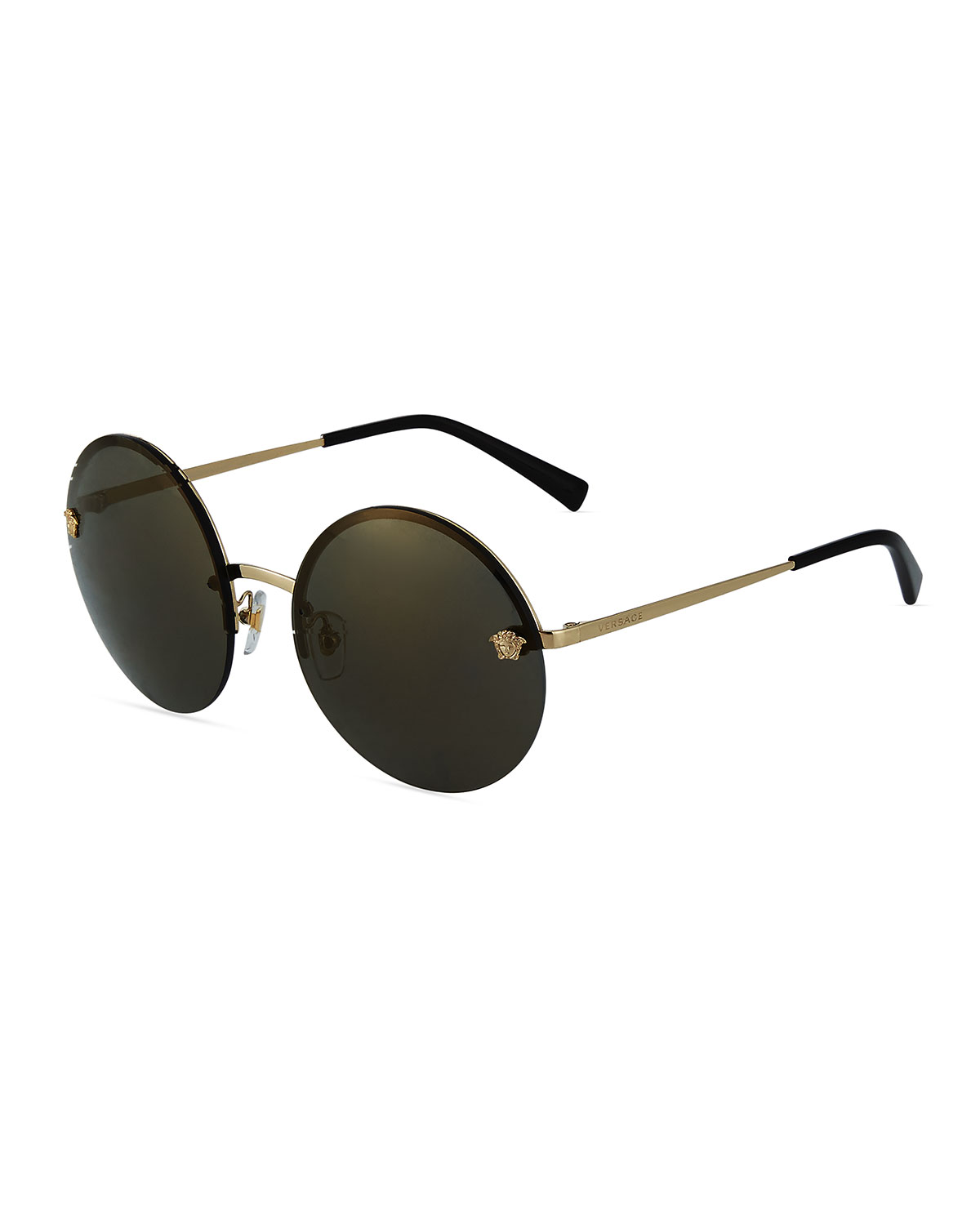 0333816a1b Versace Rimless Round Metal Sunglasses In Gold