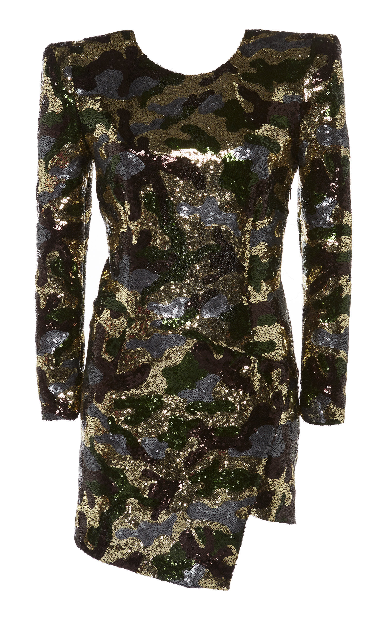 9dcd261ea0 Dundas Sequined Camouflage-Print Georgette Mini Dress