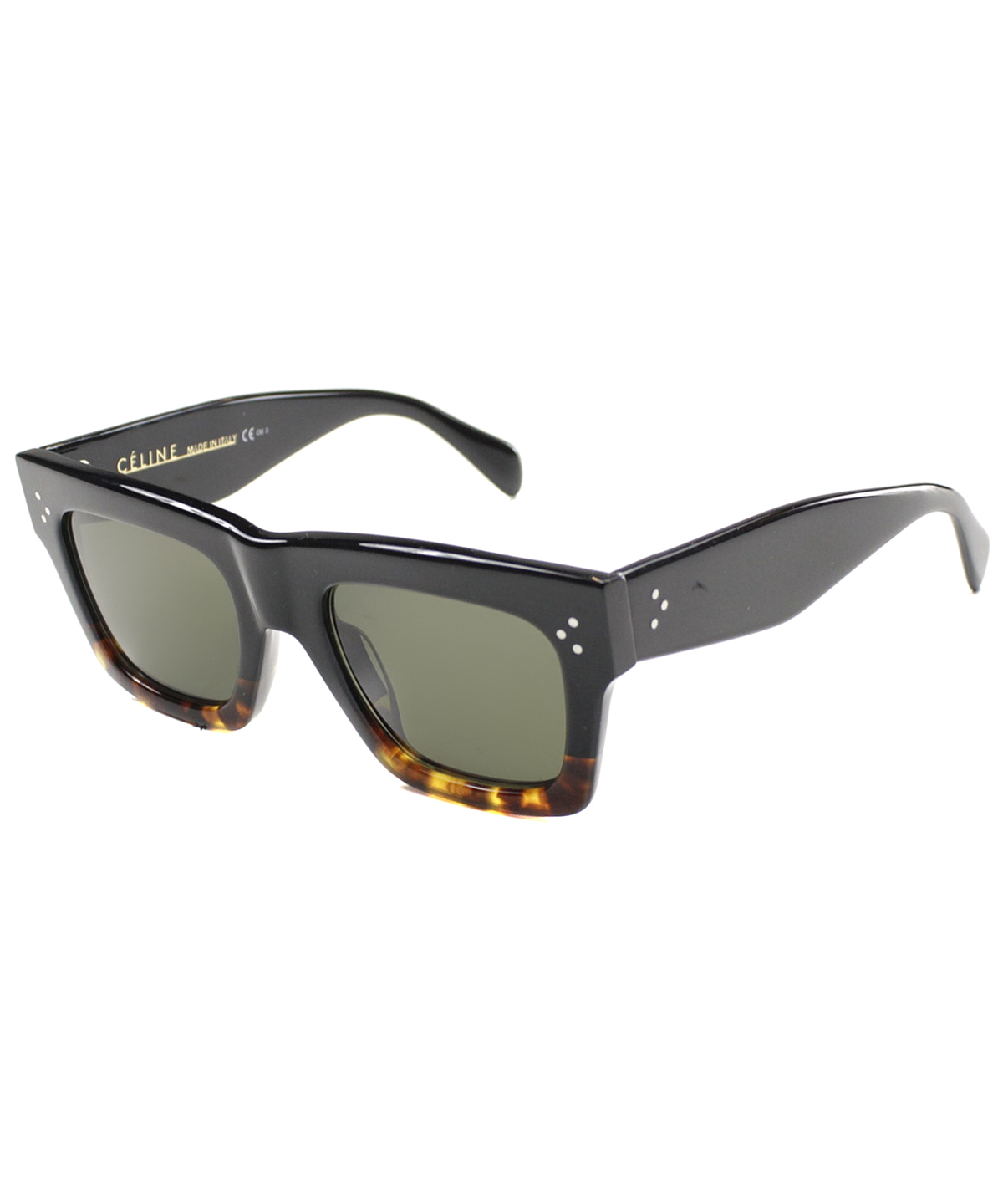 Celine Square Plastic Sunglasses In Black Havana