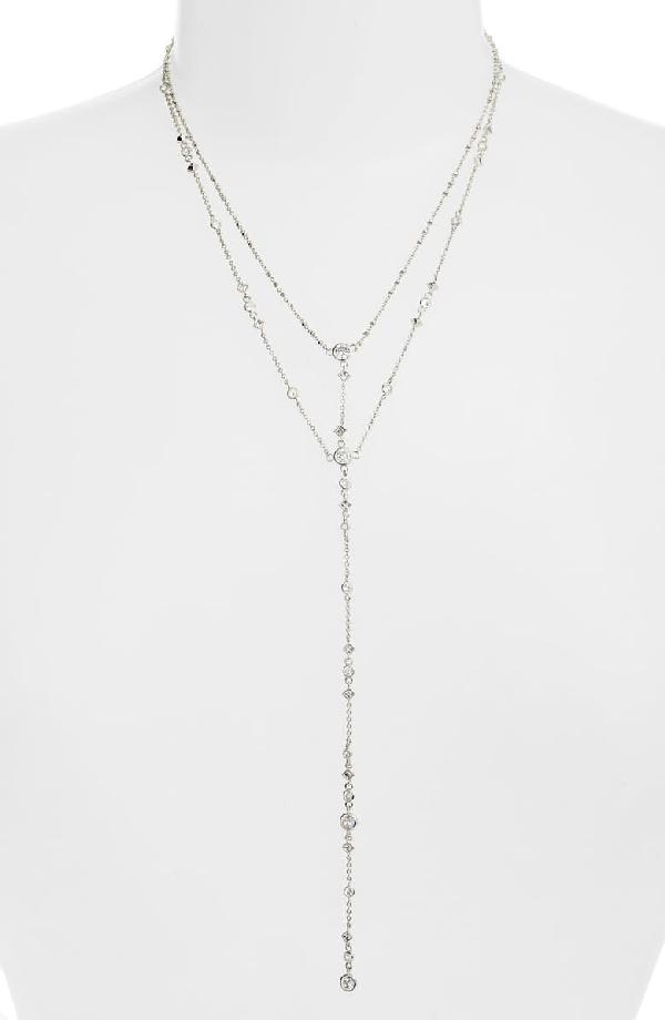 Kendra Scott Watson Double Tassel Pendant Necklace, 28 In Silver