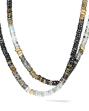 David Yurman Tweejoux Necklace In 18K Yellow Gold With Black Onyx In Multi/Gold