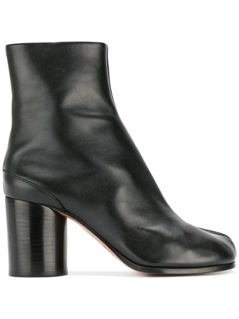 16a73c73c52 Maison Margiela Leather Split Toe Ankle Boots In Black
