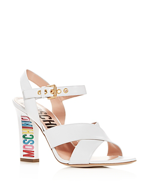 Moschino Women's Crisscross High-Heel Sandals In White