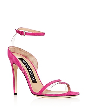 Sergio Rossi Women's Ankle Strap High-Heel Sandals In Pink