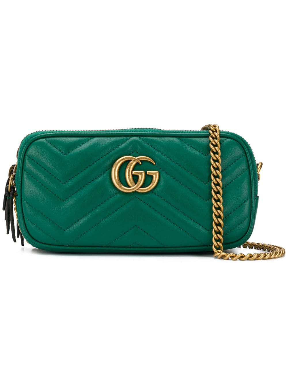 dc91acc288f9 Gucci Gg Marmont Crossbody Bag - Green | ModeSens