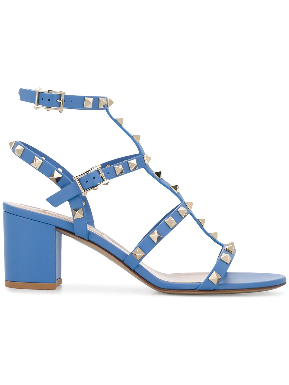 33a0c7276b Valentino Garavani Rockstud Sandals - Blue | ModeSens