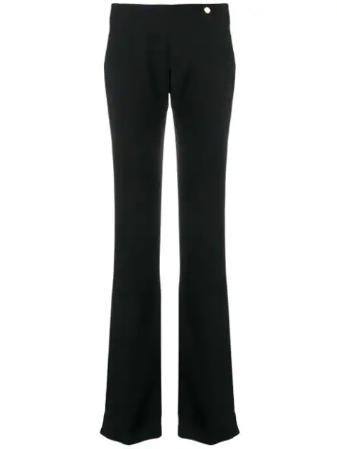 Versace Bootcut Trousers In Black