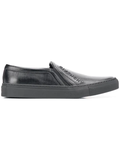 Givenchy Logo Slip-On Sneakers In Black