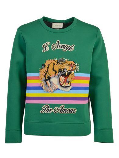 3617af752c3 Gucci Snoopy Sweatshirt In Emerald