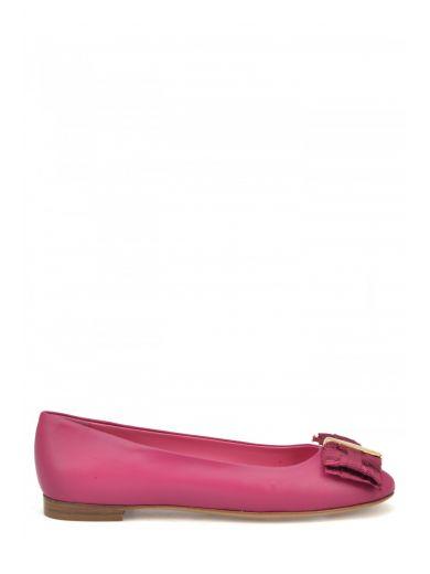 Salvatore Ferragamo Women's  Purple Leather Flats In Fuchsia