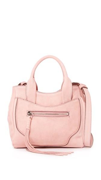 Elizabeth And James Andie Mini Suede Satchel Bag, Pink In Tea Rose