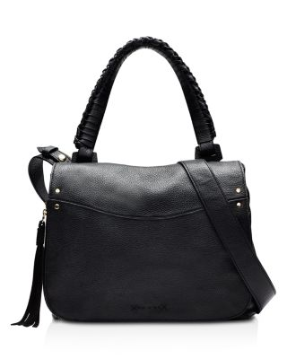 Elizabeth And James Trapeze Pebbled Leather Small Crossbody Bag In Black Pattern